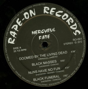 Mercyful Fate C.u.n.t. Black Vinyl LP label side a