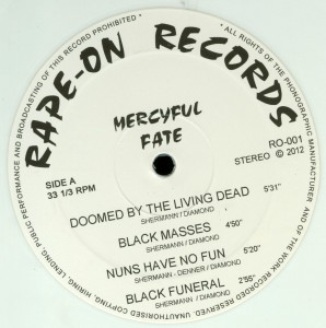 Mercyful Fate C.u.n.t. White Vinyl LP label side a