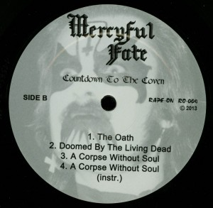 Mercyful Fate Countdown To The Coven Black Vinyl LP label side b