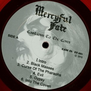 Mercyful Fate Countdown To The Coven Red Vinyl LP label side a