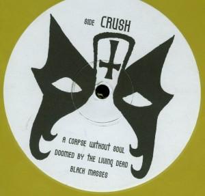 Mercyful Fate Crush The Cross Yellow Vinyl LP label side a