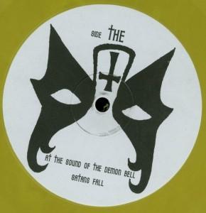 Mercyful Fate Crush The Cross Yellow Vinyl LP label side b