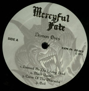 Mercyful Fate Demon Eyes LP label side a