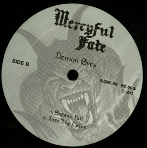 Mercyful Fate Demon Eyes LP label side b