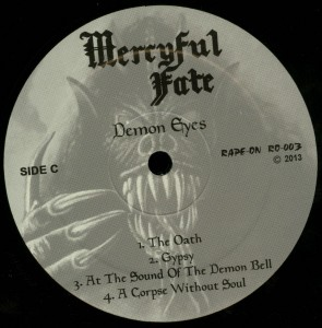 Mercyful Fate Demon Eyes LP label side c