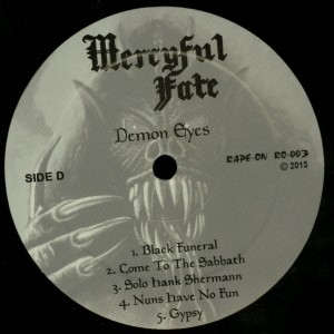 Mercyful Fate Demon Eyes LP label side d