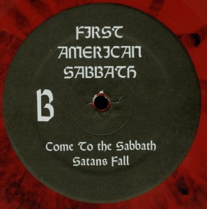 Mercyful Fate First American Sabbath Red Vinyl LP label side b