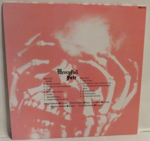 Mercyful Fate Live From The Depths Of Hell Red Vinyl LP back