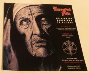 Mercyful Fate Luttenberg Nederland 22.01.1984 10'' Acetate