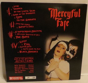 Mercyful Fate No Mercy For Montreal Black Vinyl LP back
