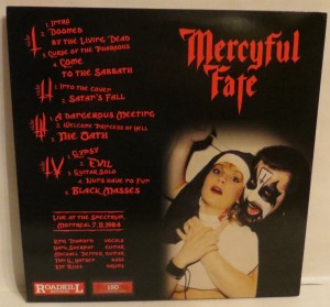 Mercyful Fate No Mercy For Montreal Red And White Vinyl LP back