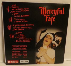 Mercyful Fate No Mercy For Montreal Test Pressing LP back