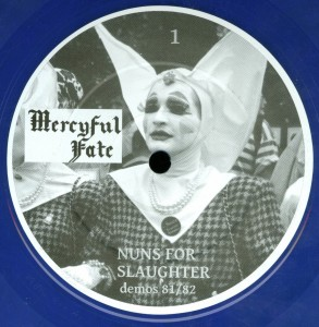 Mercyful Fate Nuns For Slaughter Blue Vinyl LP label side a