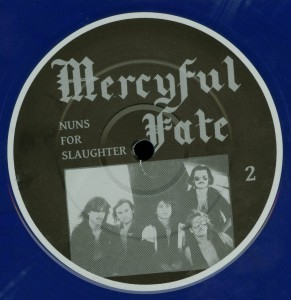 Mercyful Fate Nuns For Slaughter Blue Vinyl LP label side b