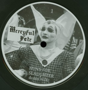 Mercyful Fate Nuns For Slaughter Clear Vinyl LP label side a