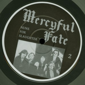 Mercyful Fate Nuns For Slaughter Clear Vinyl LP label side b