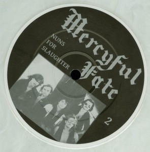 Mercyful Fate Nuns For Slaughter White Vinyl LP label side b