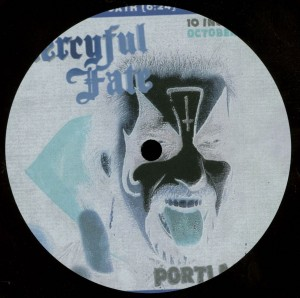 Mercyful Fate Portland 84 10 Inch Acetate label side b