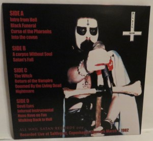 Mercyful Fate Satan Is Better Than God Picture Disc LP back