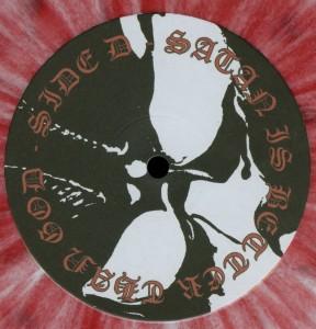 Mercyful Fate Satan Is Better Than God White Vinyl Red Splatter LP label side d