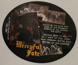 Mercyful Fate The First Sacrifice Picture Disc LP back