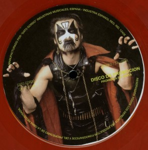 Mercyful Fate Welcome To The House Of Satan Red Vinyl Promo Label LP label side a
