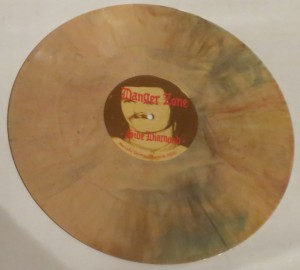 Danger Zone Mustard Yellow Splatter lp side 1