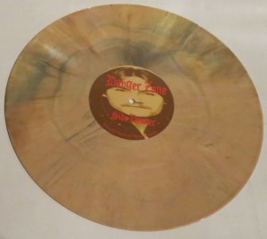 Danger Zone Mustard Yellow Splatter lp side 2