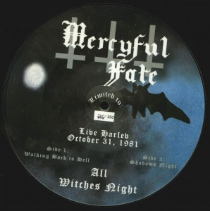 Mercyful Fate All Witches Night Picture disc 7 inch back