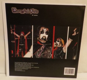 Mercyful Fate B Sides Test Pressing lp back
