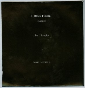 Mercyful Fate Black Funeral Demo 7'' back
