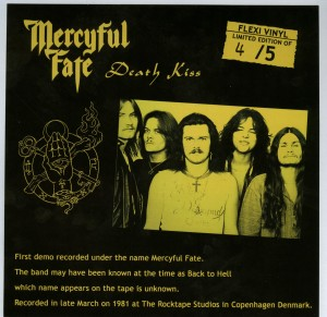 Mercyful Fate Death Kiss flexi disc back