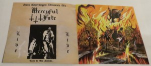 Mercyful Fate Denying Christ In Holland Test Pressing insert back
