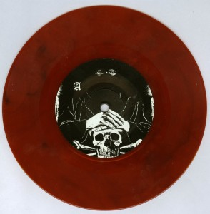 Mercyful Fate Die Schwarze Maske clear red 7'' side a