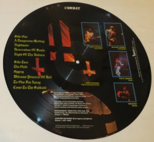 Mercyful Fate Don't Break The Oath Comabt Unnumbered Picture Disc lp back