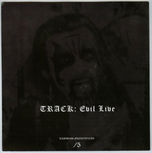 Mercyful Fate Evil Live flexi disc back