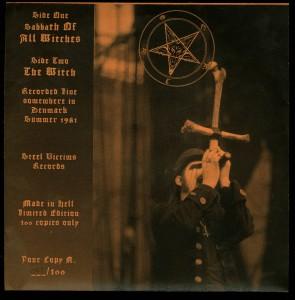 Mercyful Fate I Can Feel Satan Is Here Tonight Orange sleeve back