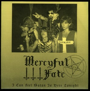 Mercyful Fate I Can Feel Satan Is Here Tonight Yellow sleeve