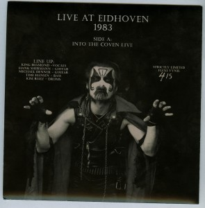 Mercyful Fate Live Eidhoven 1983 flexi disc back