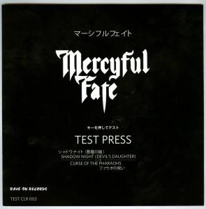 Mercyful Fate Shadow Night test pressing 7 inch