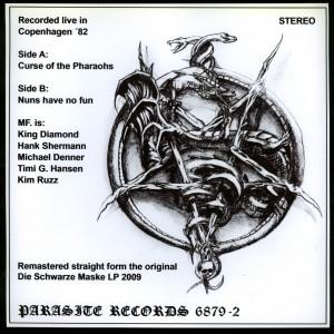 Mercyful Fate _Die Schwarze Maske black with speckles  back