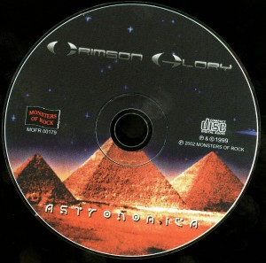 Crimson Glory Astronomica CD Monsters Of Rock disc