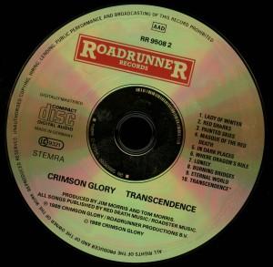 Crimson Glory Transcendence matrix SONOPRESS C-5104 RR95082 05 disc