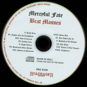 Mercyful Fate Brat Masses disc