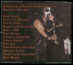 Mercyful Fate Early Sabbath back