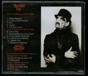 Mercyful Fate - King Diamond Happy Halloween Live CD back