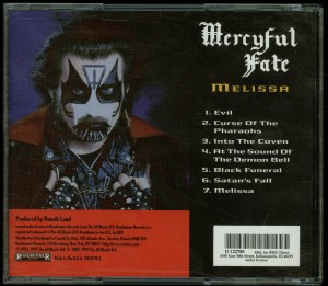 Mercyful Fate Melissa 1997 remaster BMG Club back