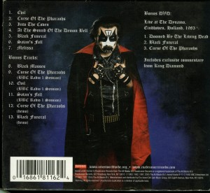 Mercyful Fate Melissa 2005 CD + DVD back