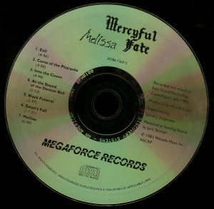 Mercyful Fate Melissa Megaforce disc