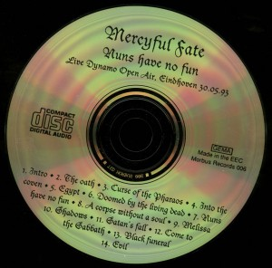 Mercyful Fate Nuns Have No Fun CD disc